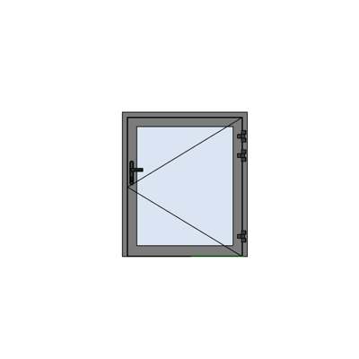 Image for MB-78EI Fireproof Technical Window Opening Outwards
