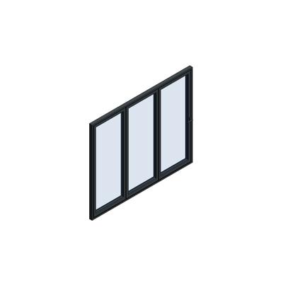Image for MB-86 Fold Line Folding door 3-leaf 3-3-0 inward opening