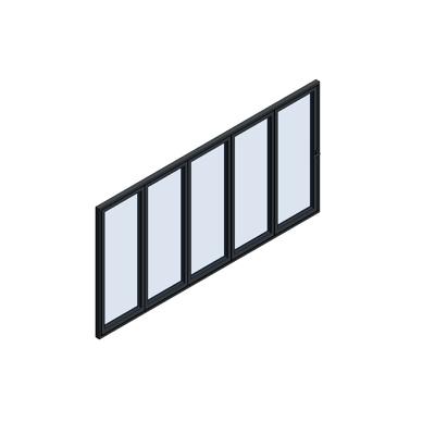 Image for MB-86 Fold Line Folding door 5-leaf 5-5-0 outward opening
