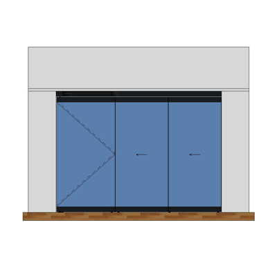 Image for MB-EXPO Mobile internal partition wall 3-leaf 3-2-1