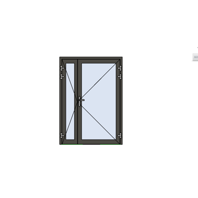 MB-78EI External Fireproof Double Door Opening Outwards for wall / curtain wall图像