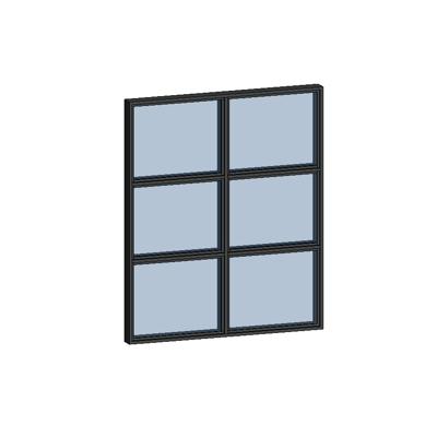 Image for MB-SLIMLINE Window 1-sash Fixed with Vienna Muntins