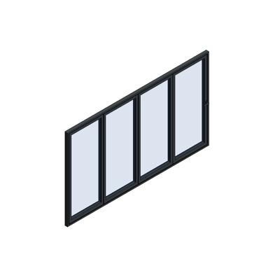 Image for MB-86 Fold Line Folding door 4-leaf 4-4-0 outward opening