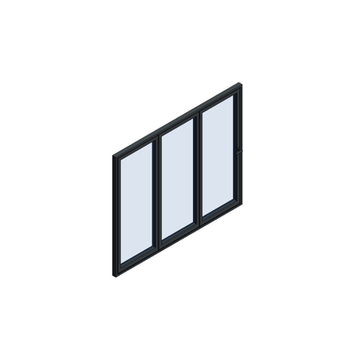 Image for MB-86 Fold Line Folding door 3-leaf 3-3-0 outward opening