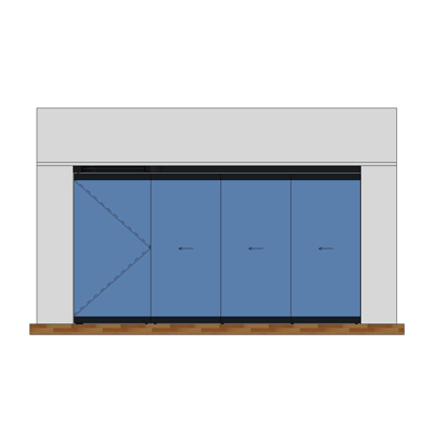Image for MB-EXPO Mobile internal partition wall 4-leaf 4-3-1
