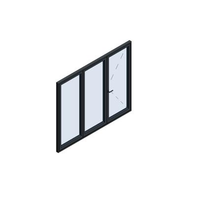Image for MB-86 Fold Line Folding door 3-leaf 3-2-1 outward opening