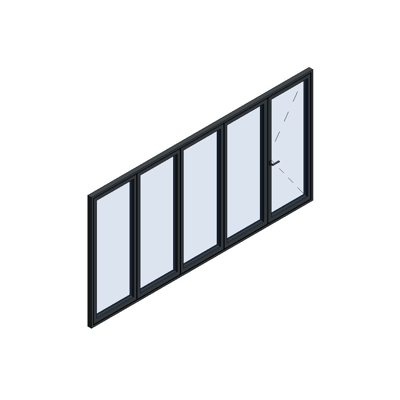 Image for MB-86 Fold Line Folding door 5-leaf 5-4-1 inward opening