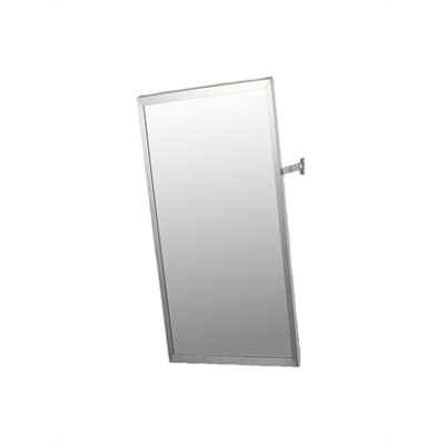 """bilde for Accessible Mirror Series Stainless Steel Frame Adjustable Tilt Mirror - 16"""" x 30"""" Surface Mounted"""