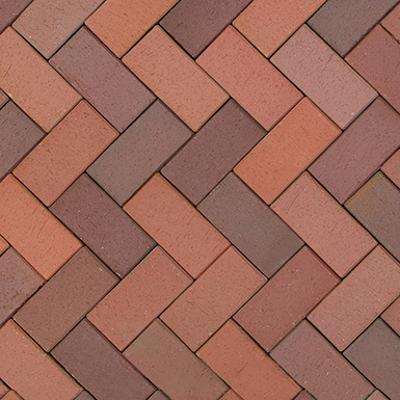 Image for Red-Brown Flashed Klinker Paver