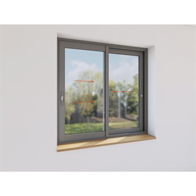 Image for Double sliding window aluminium