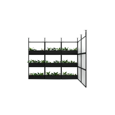 Obrázek pro 4T Wall Unit - H2400MM, W1200MM Ceiling Mounted Wall Unit with Plant Boxes X4