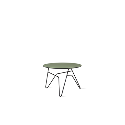 Image for Twist table, Black, Dia 600 mm, H  450 mm
