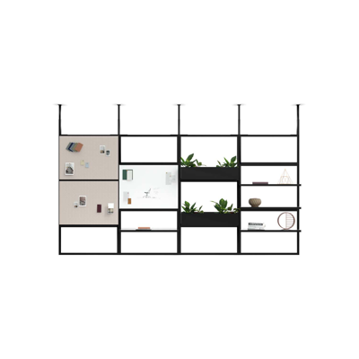 Obrázek pro 4T Wall Unit - H2400MM, W1200MM Ceiling Mounted Wall Unit with Pinboard and Plant boxes X4