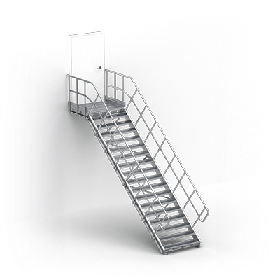 Image for Linea  - straight stairs for industry by TLC, landing with frontal exit
