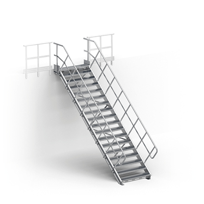 Image for Linea – straight stairs without landing for industry by TLC