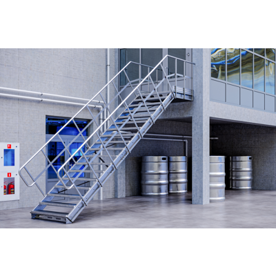billede til Linea - straight stairs for industry by TLC